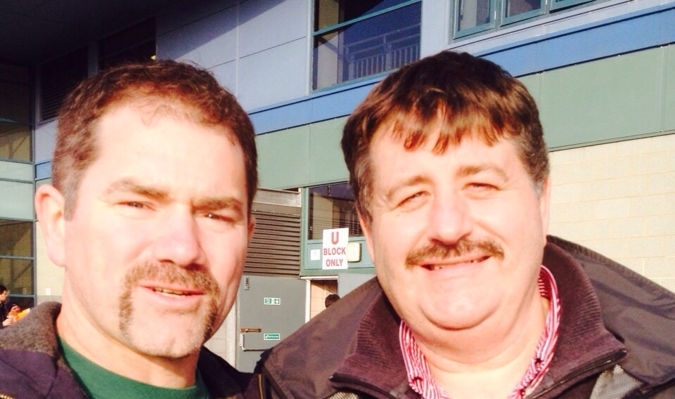Mark Gurden and Marcel Morelli growing moustaches for Movember 2014.
