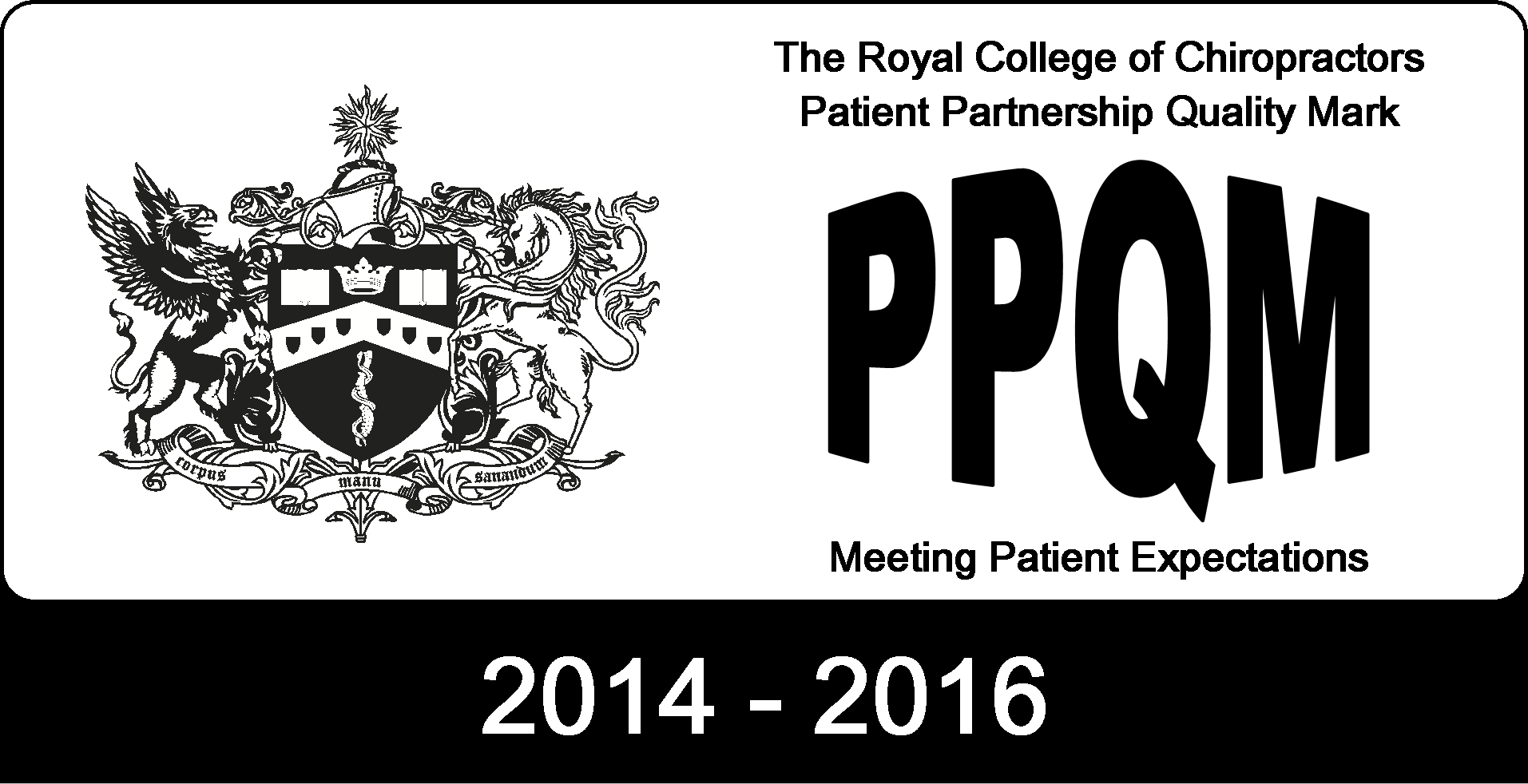 College of chiropractors patient partnership quality mark award (PPQM)