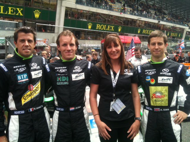 Rachel with 24 hour Le Mans racers